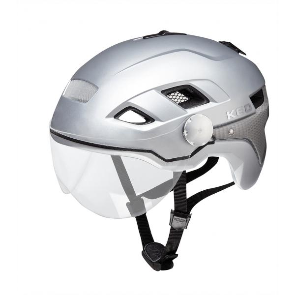 B-Vis X-Lite Velohelm-Silver Matt-Grösse L (55 - 61 cm)