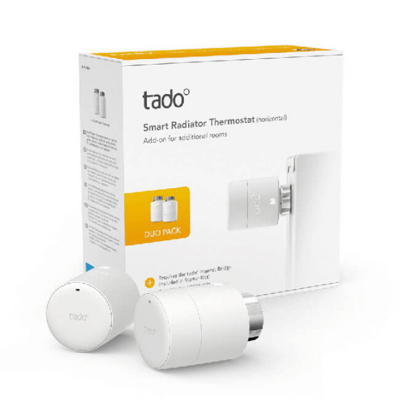 Tado° Heizkörperthermostat horizontal Duo Pack Packshot