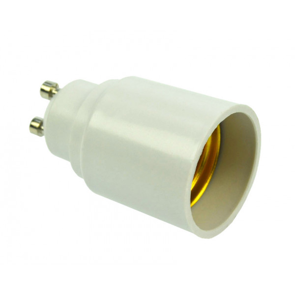 Adapterfassung GU10-Sockel für E27-Lampen