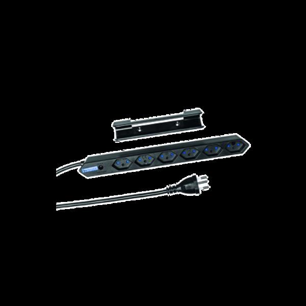 Kompakte Steckdosenleiste schwarz